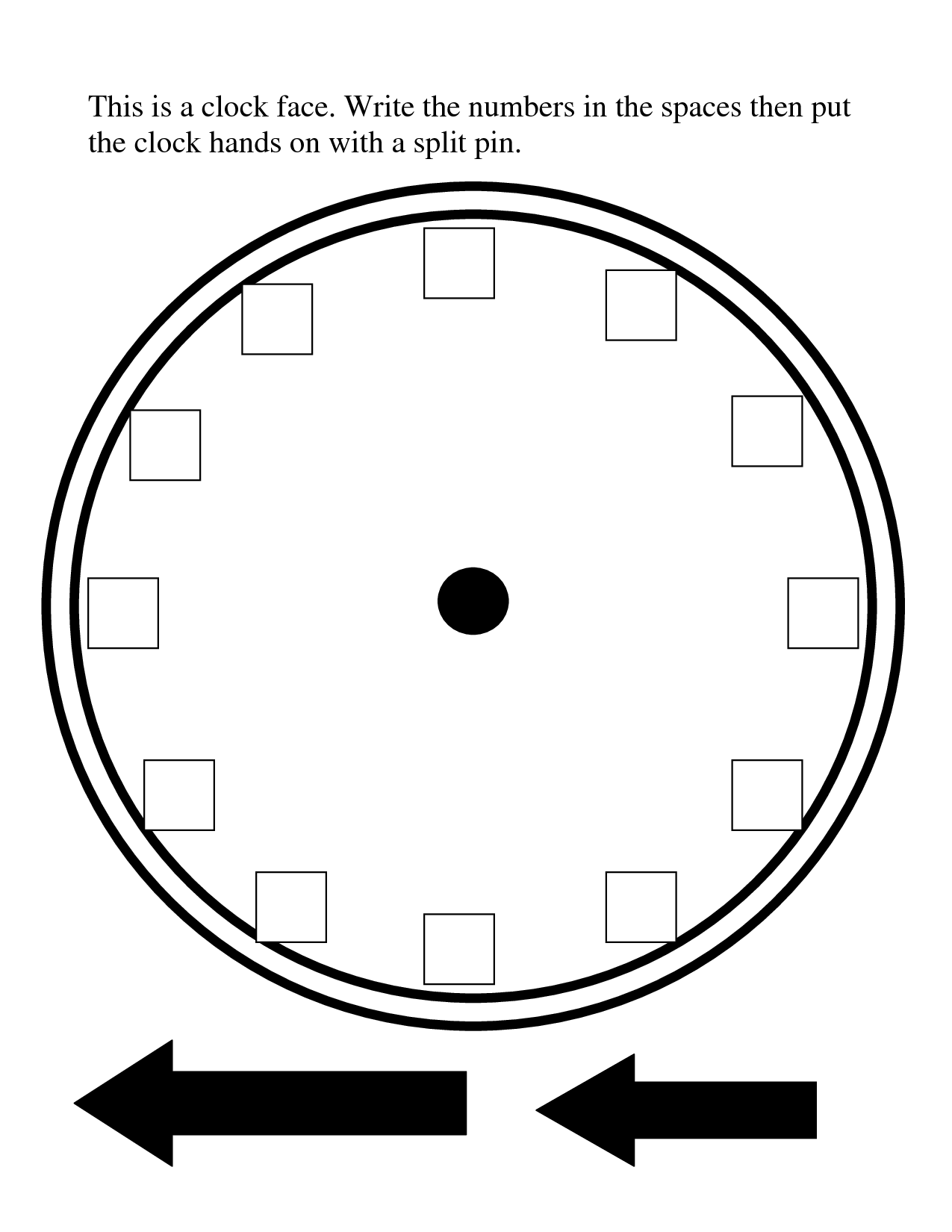 Blank Clock Template Clipart Panda