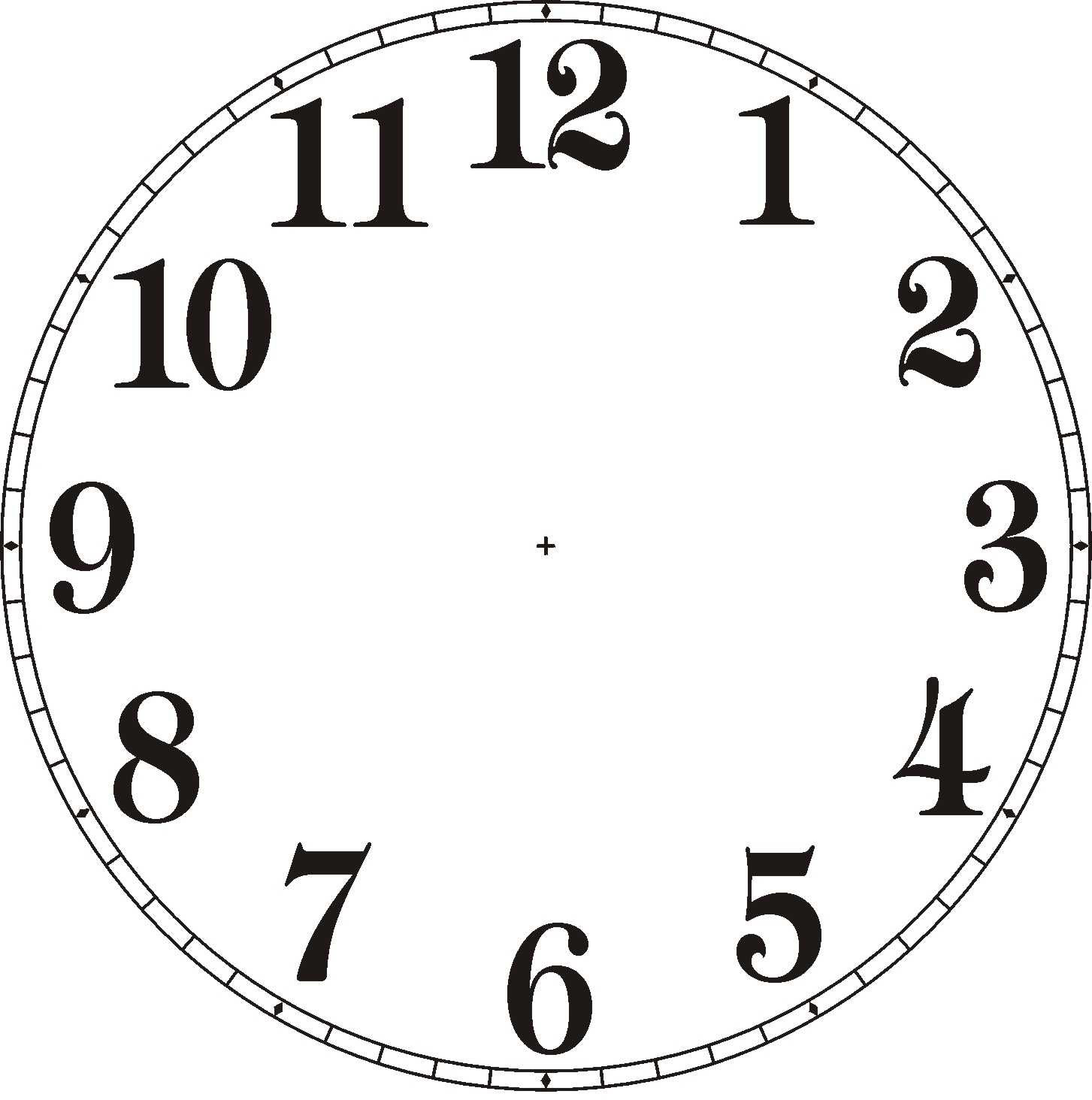 Clock Face Downloads Clipart Panda