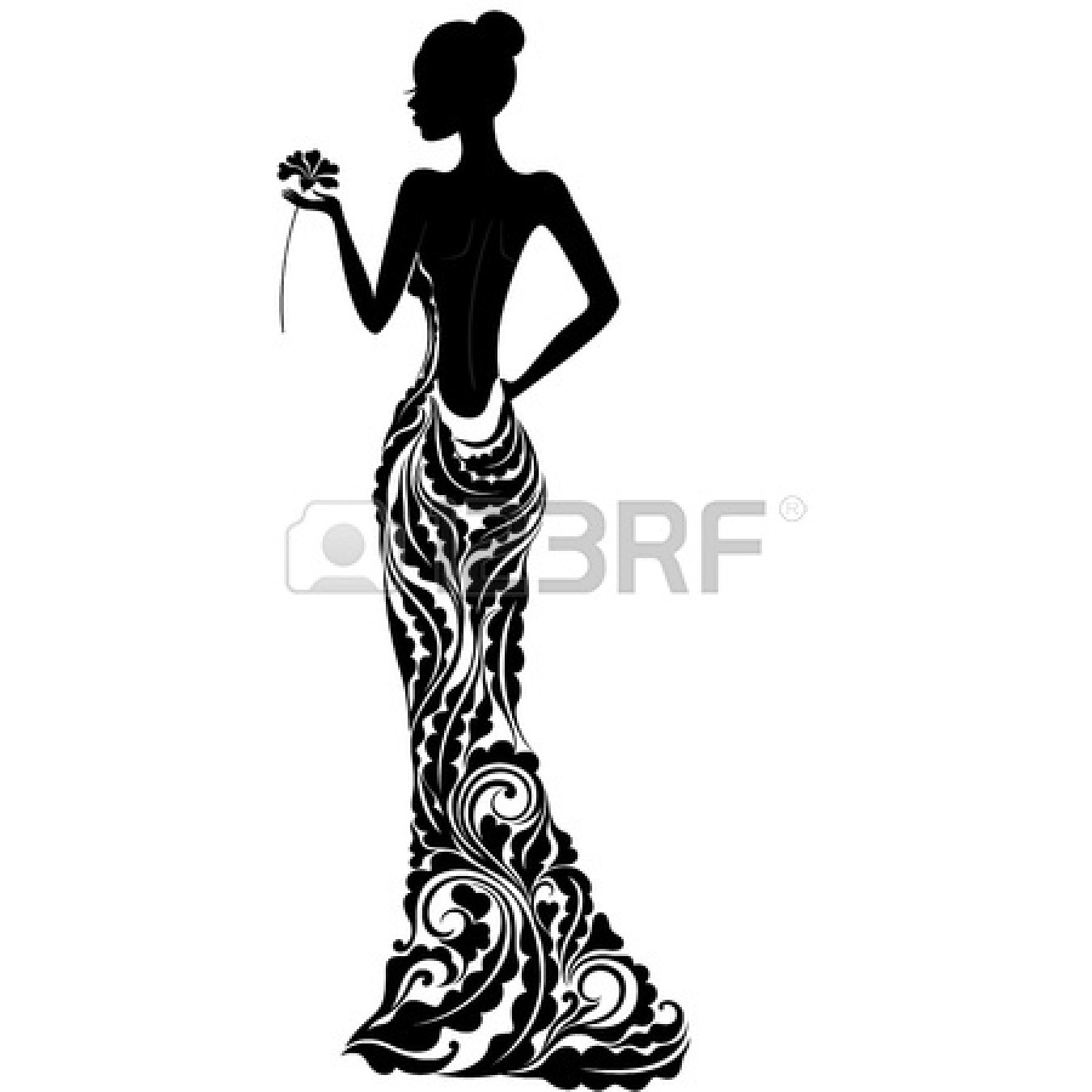 Bridesmaid Dress Silhouette Clip Art