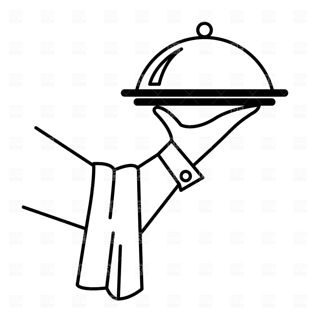 Waiter S Hand With Tray Clipart Panda