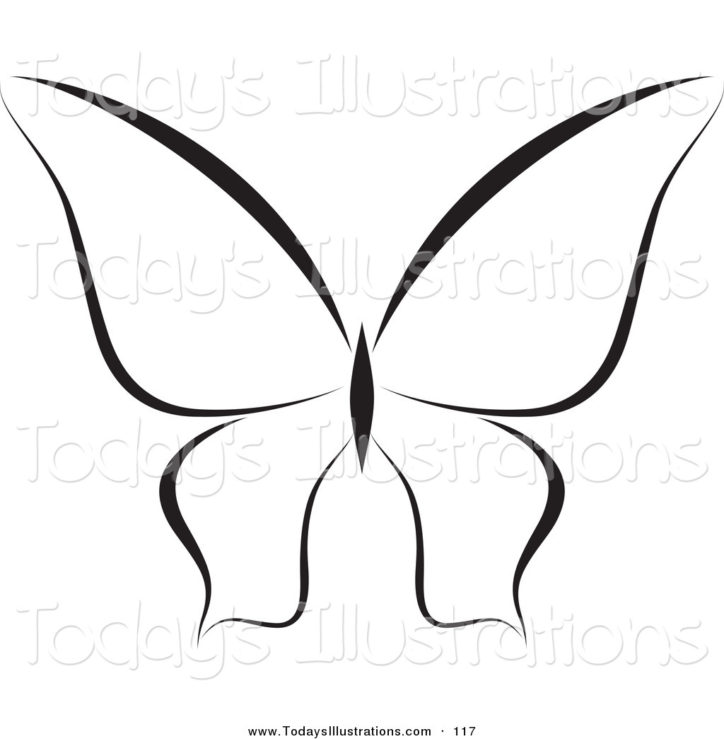Butterfly Clipart Black And White Clipart Panda