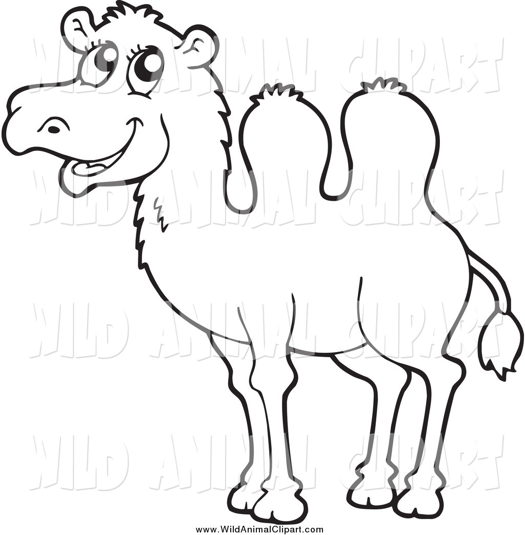 Camel Clipart Black And White Clipart Panda