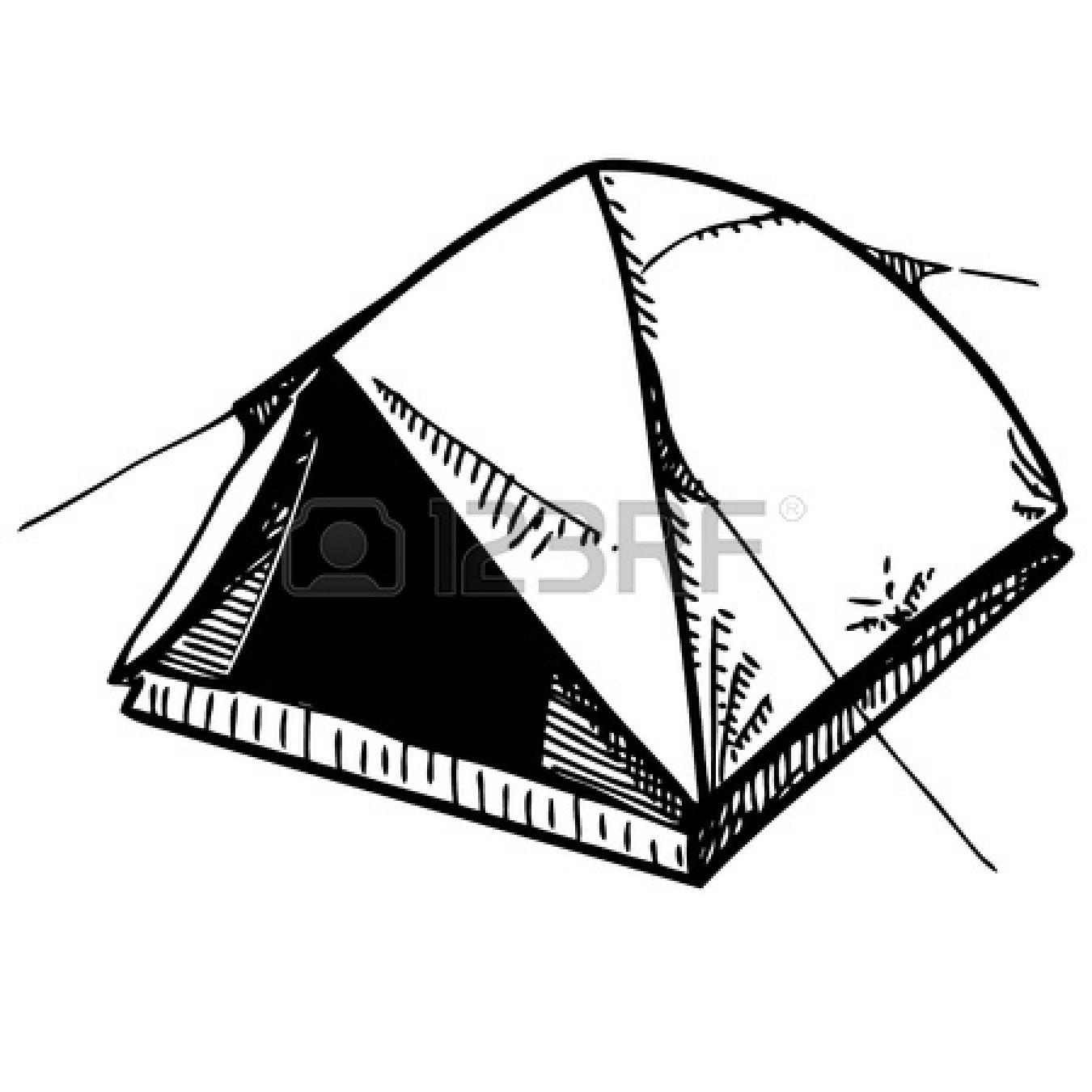 Cartoon Campfire And Tent Clipart Panda
