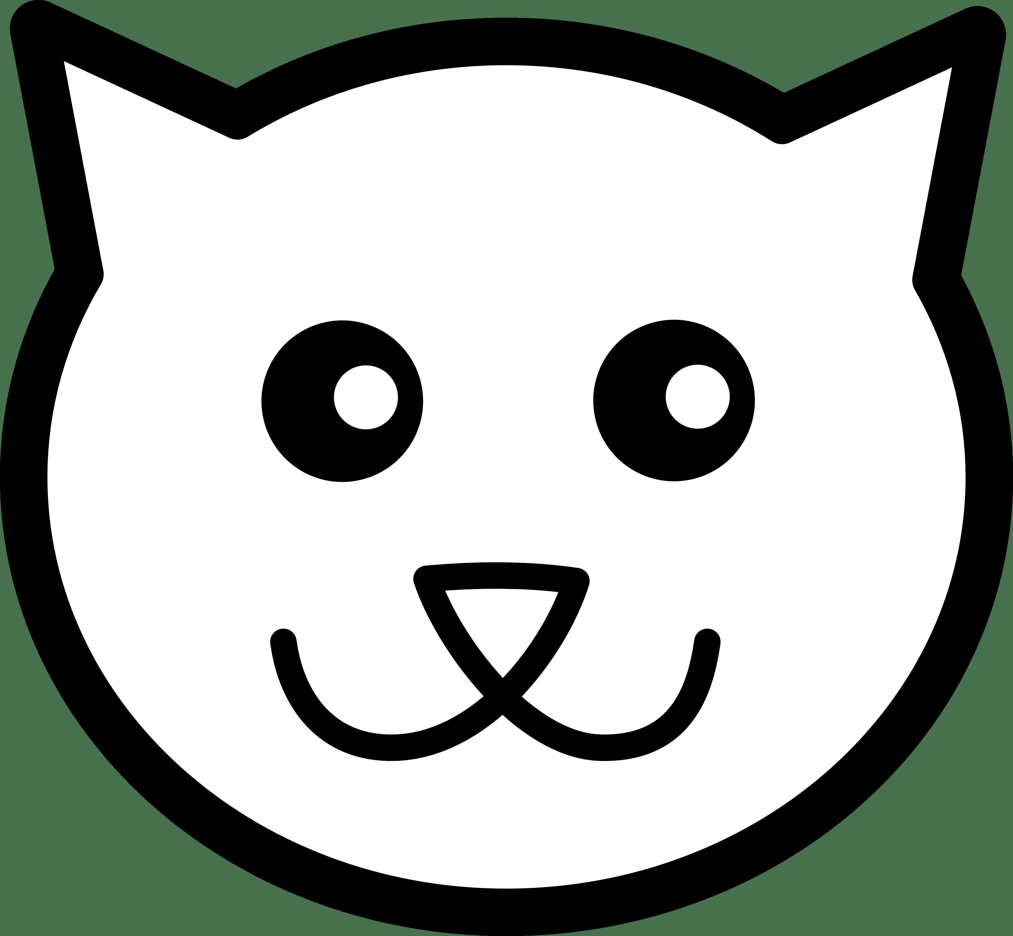 Cat Face Clipart Clipart Panda
