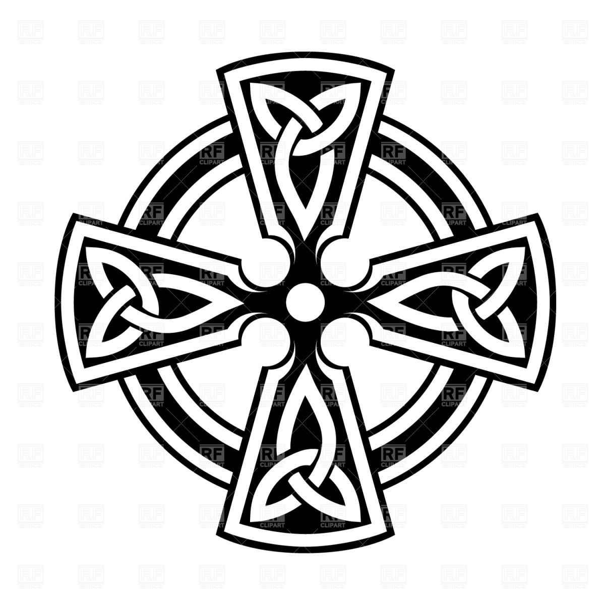 Simple Celtic Cross Clip Art Clipart Panda