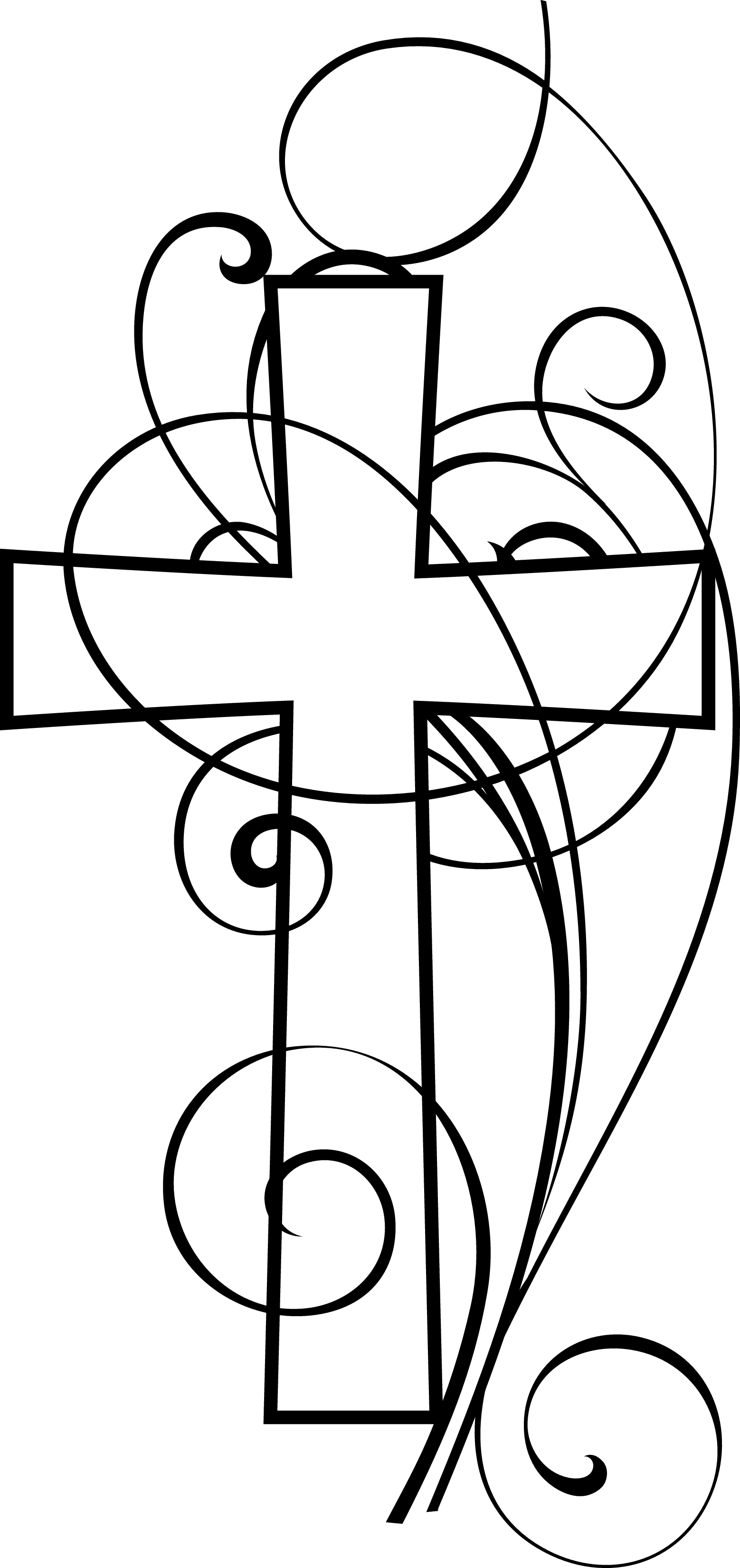 Cross Clipart Black And White Clipart Panda