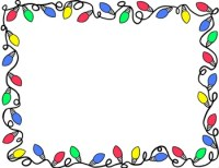 Christmas Lights Border Clip Art Free Merry And Happy