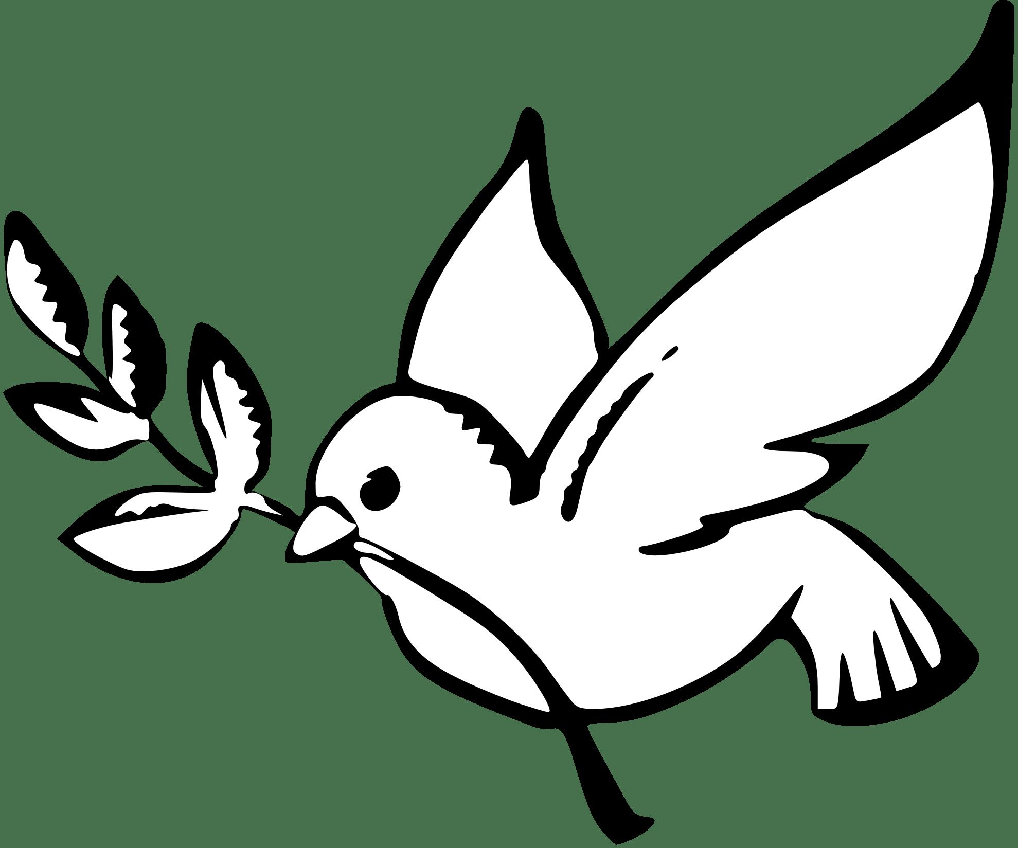 Dove Peace Black White Clipart Panda