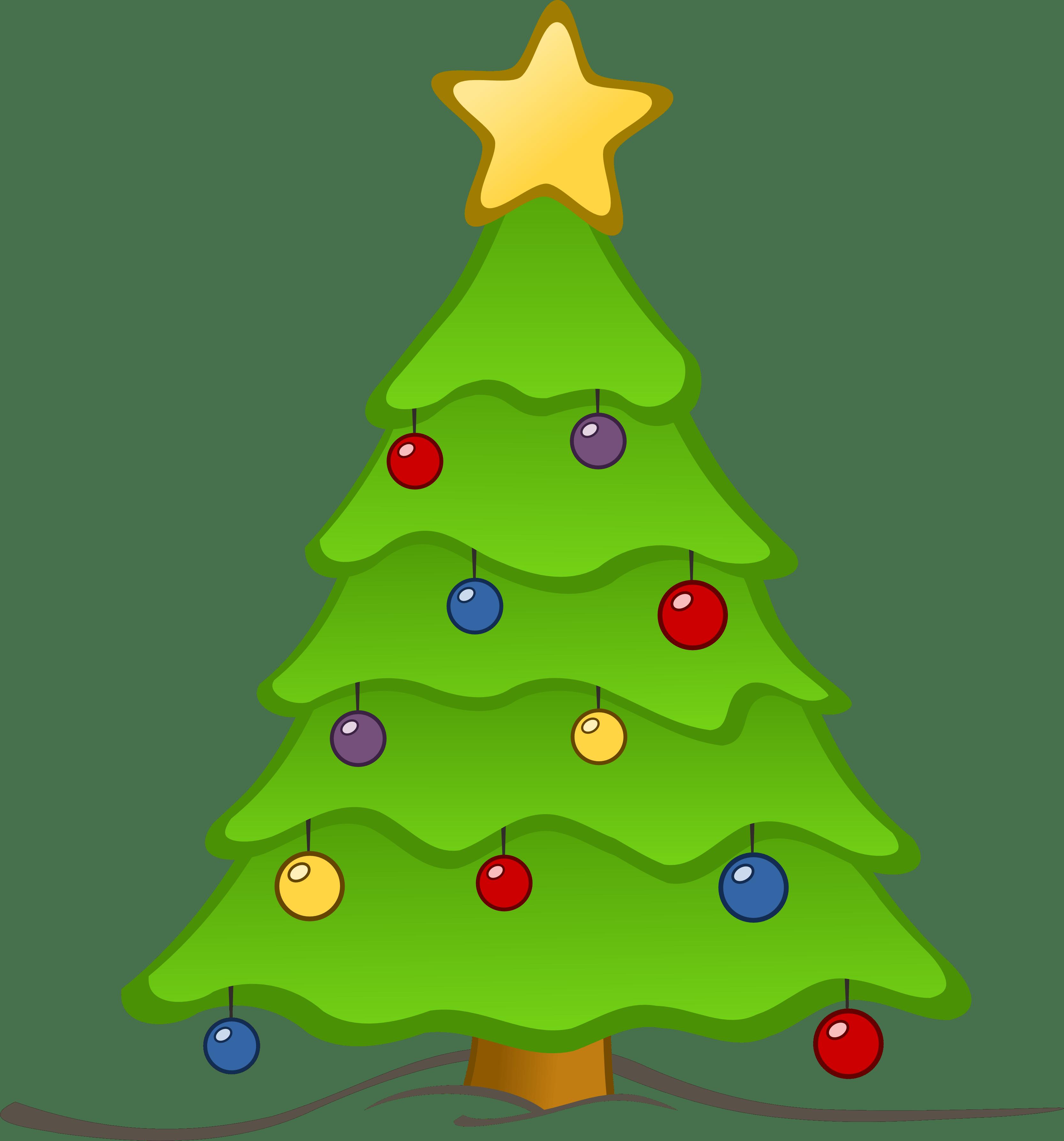 Christmas Tree Clip Art Watermark Clipart Panda