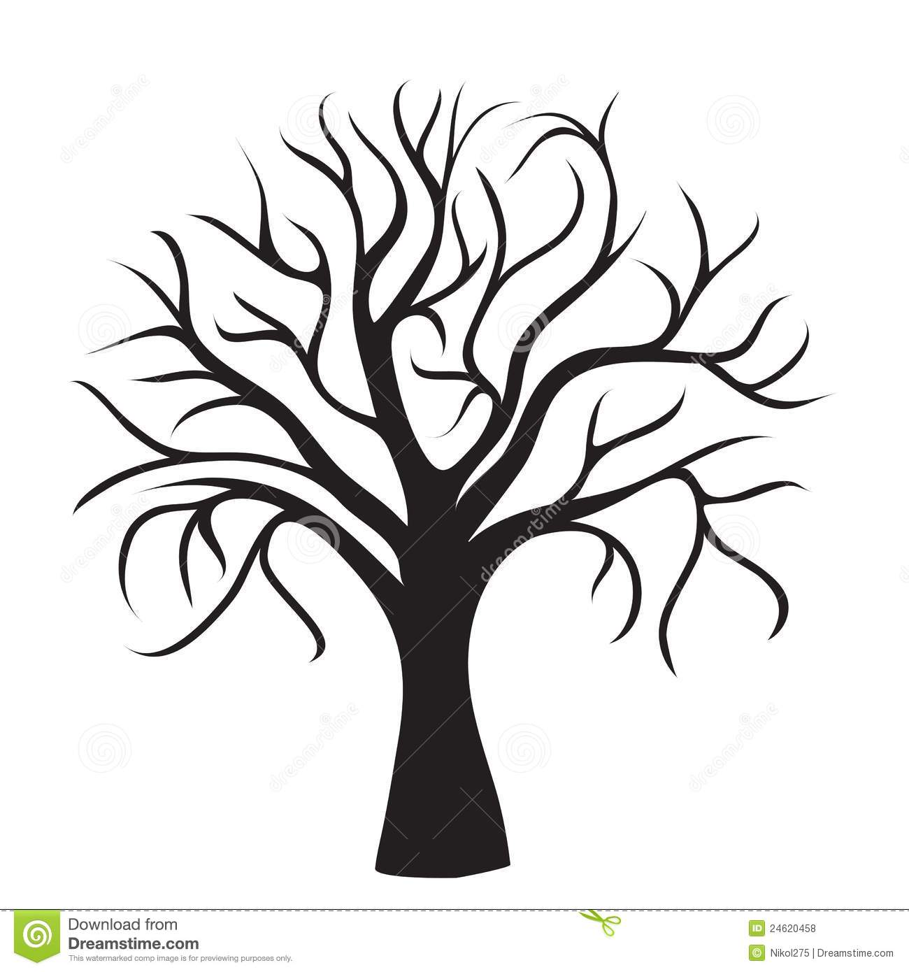 Clipart Tree Without Leaves Clipart Panda