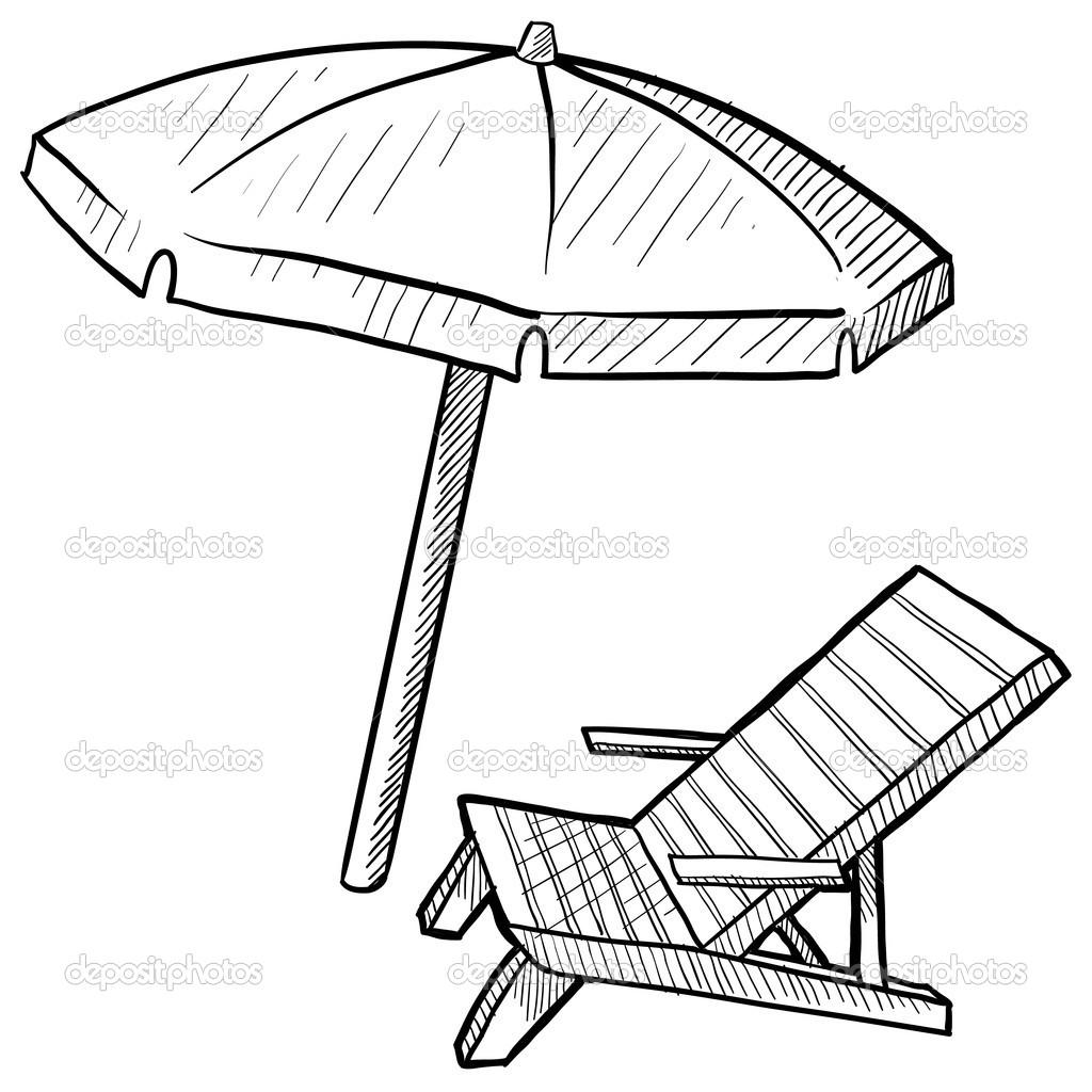Closed Umbrella Sketch Clipart Panda