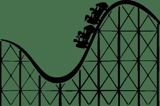 Roller Coaster 2 Black White Clipart Panda Free