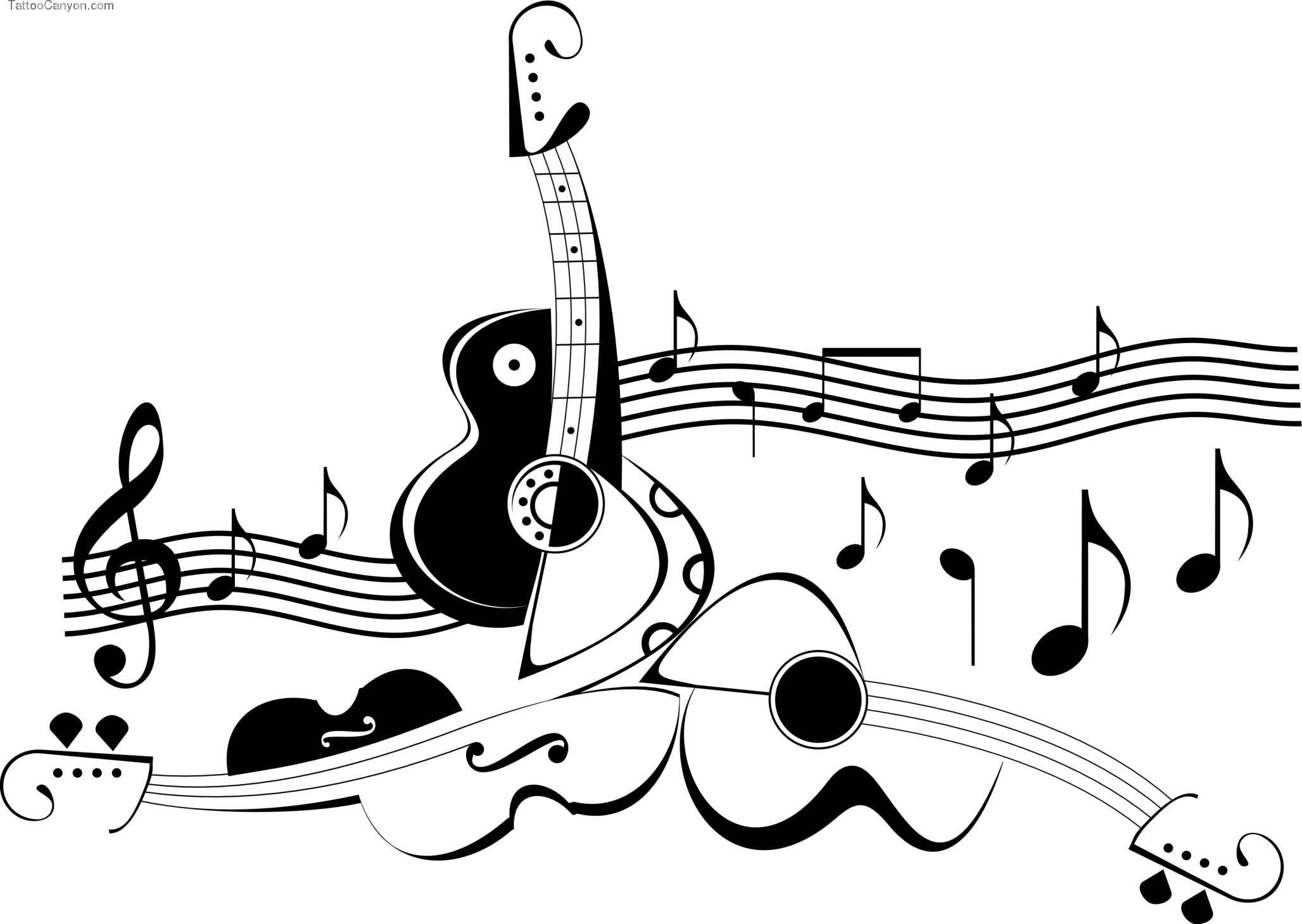 Colorful Music Notes In A Line Clipart Panda