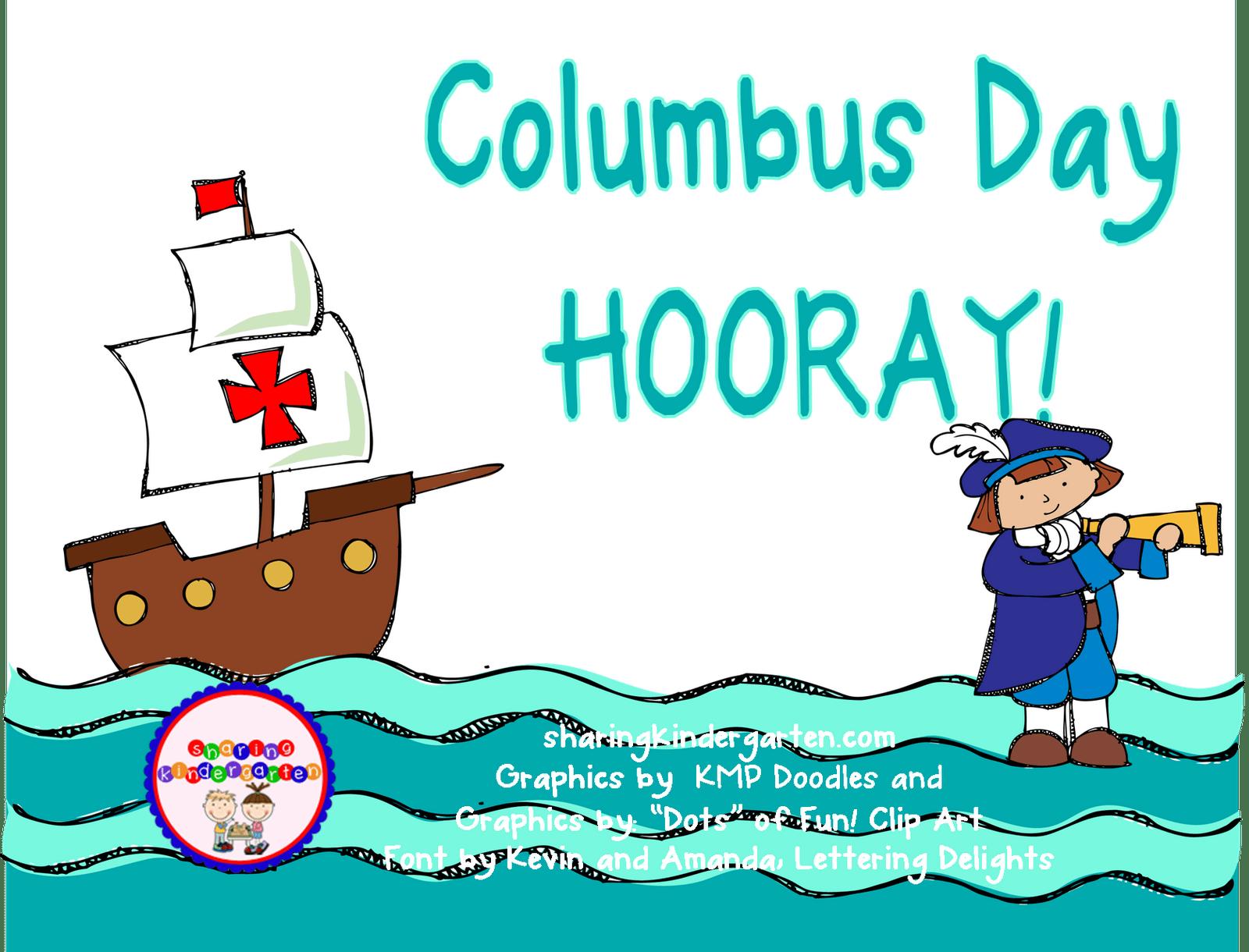 Columbus Day Hooray Clipart Panda