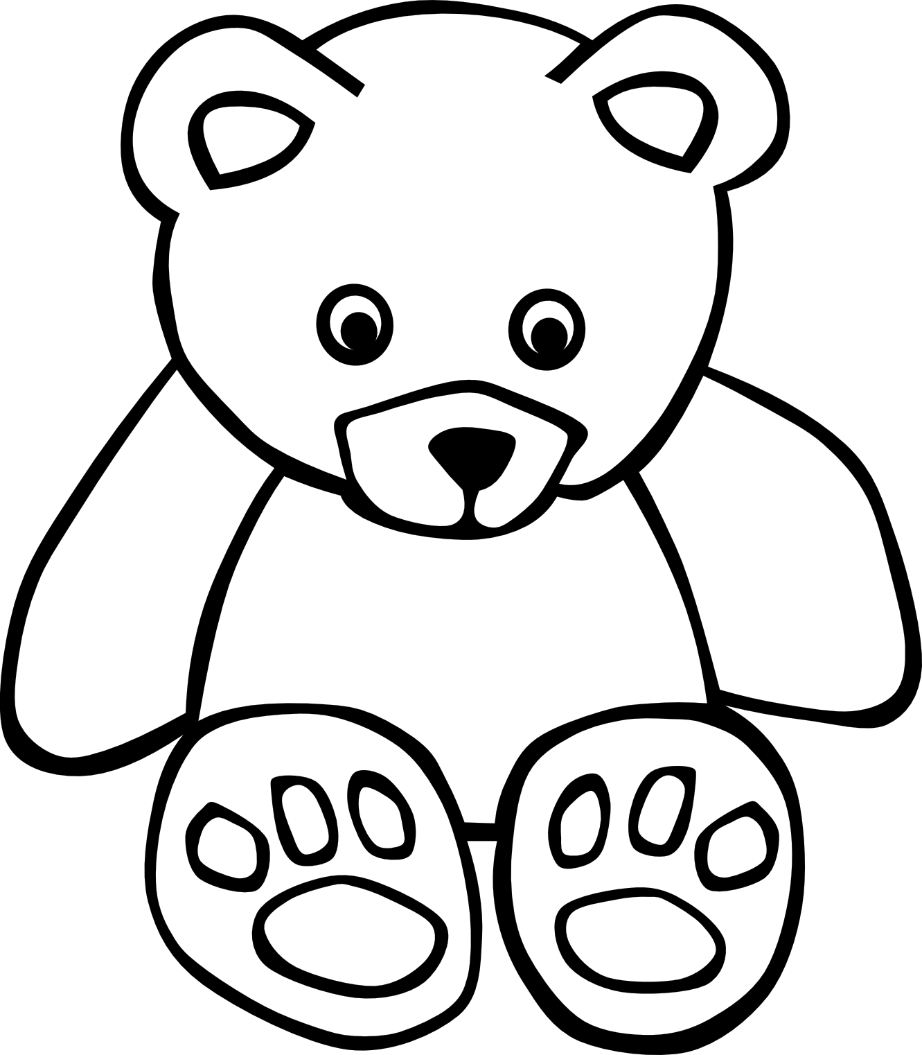 Computer Clipart Black And White Clipart Panda