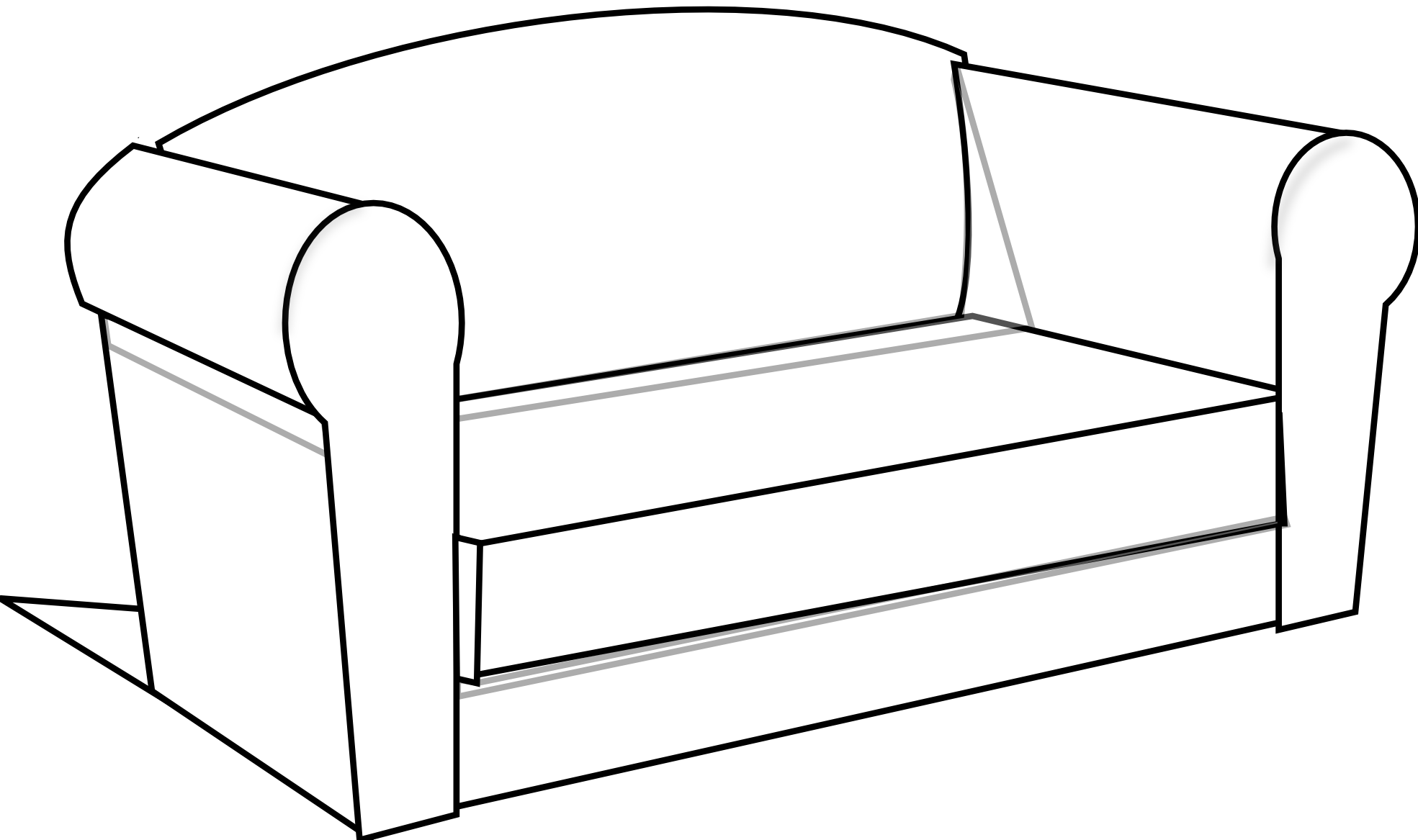 Couch Clipart Black And White Clipart Panda