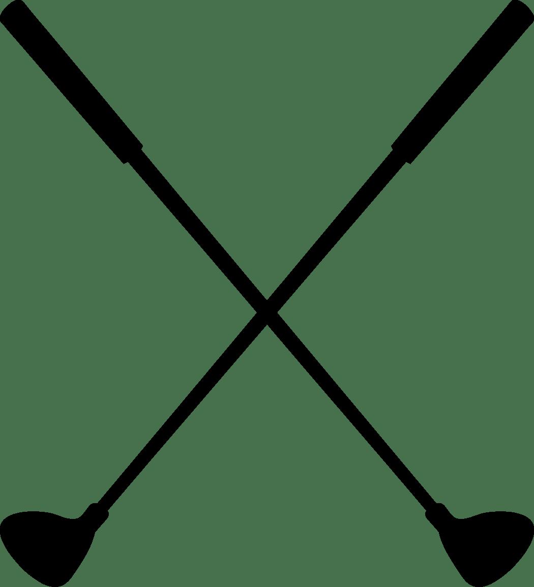 Crossed Golf Club Clipart Clipart Panda