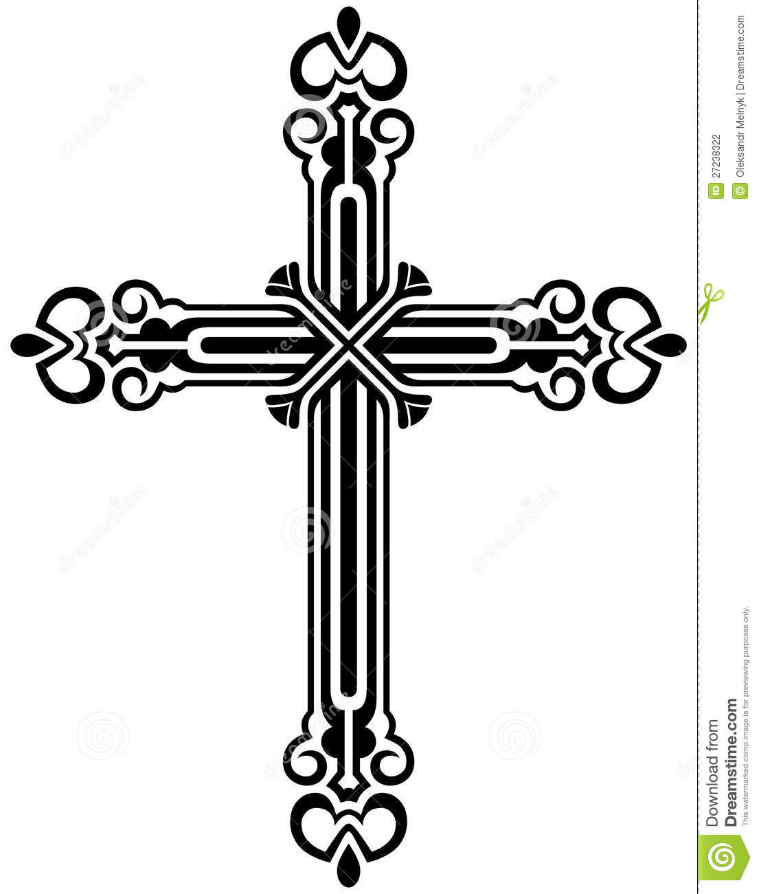 Crucifix Clipart Black And White Clipart Panda