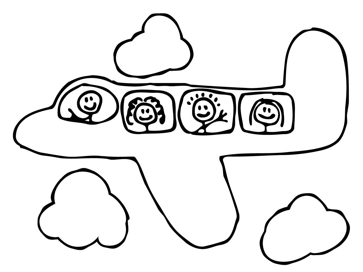 Cartoon Airplane Clipart Clipart Panda