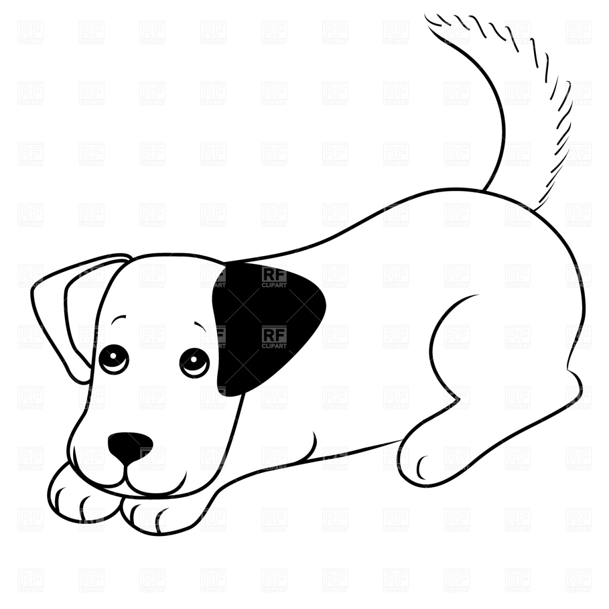 Puppy Face Clipart Black And White Clipart Panda