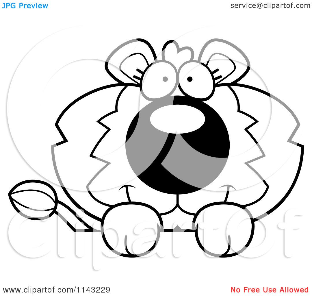 Cute Lion Clipart Black And White Clipart Panda