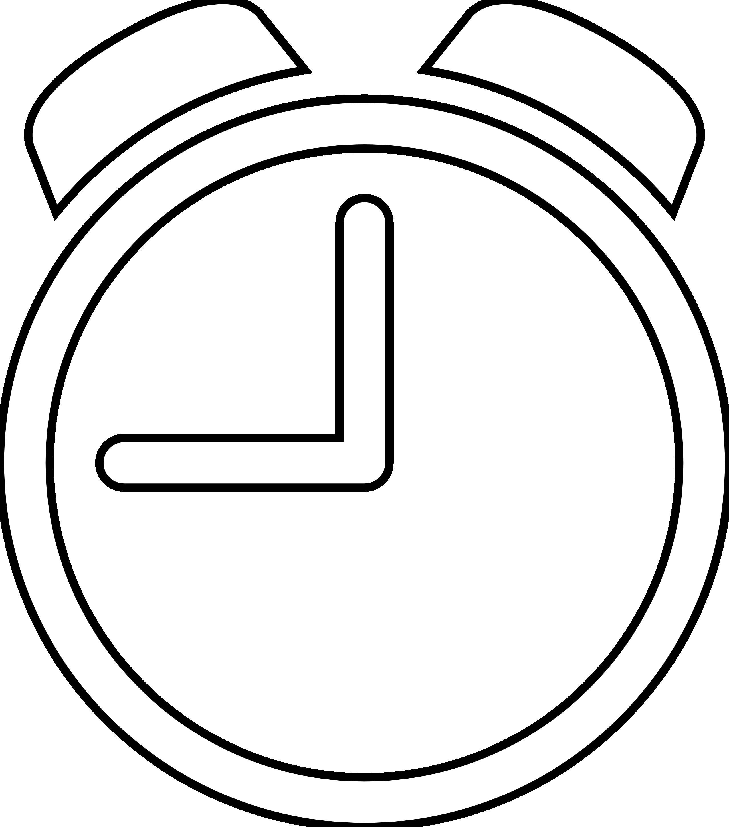 Digital Clock Clipart Black And White