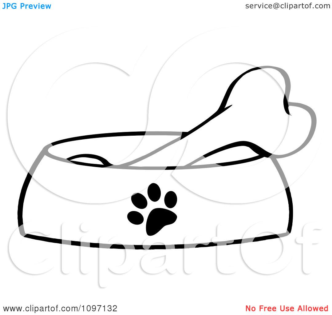 Dog Bone In Bowl Clipart Clipart Panda