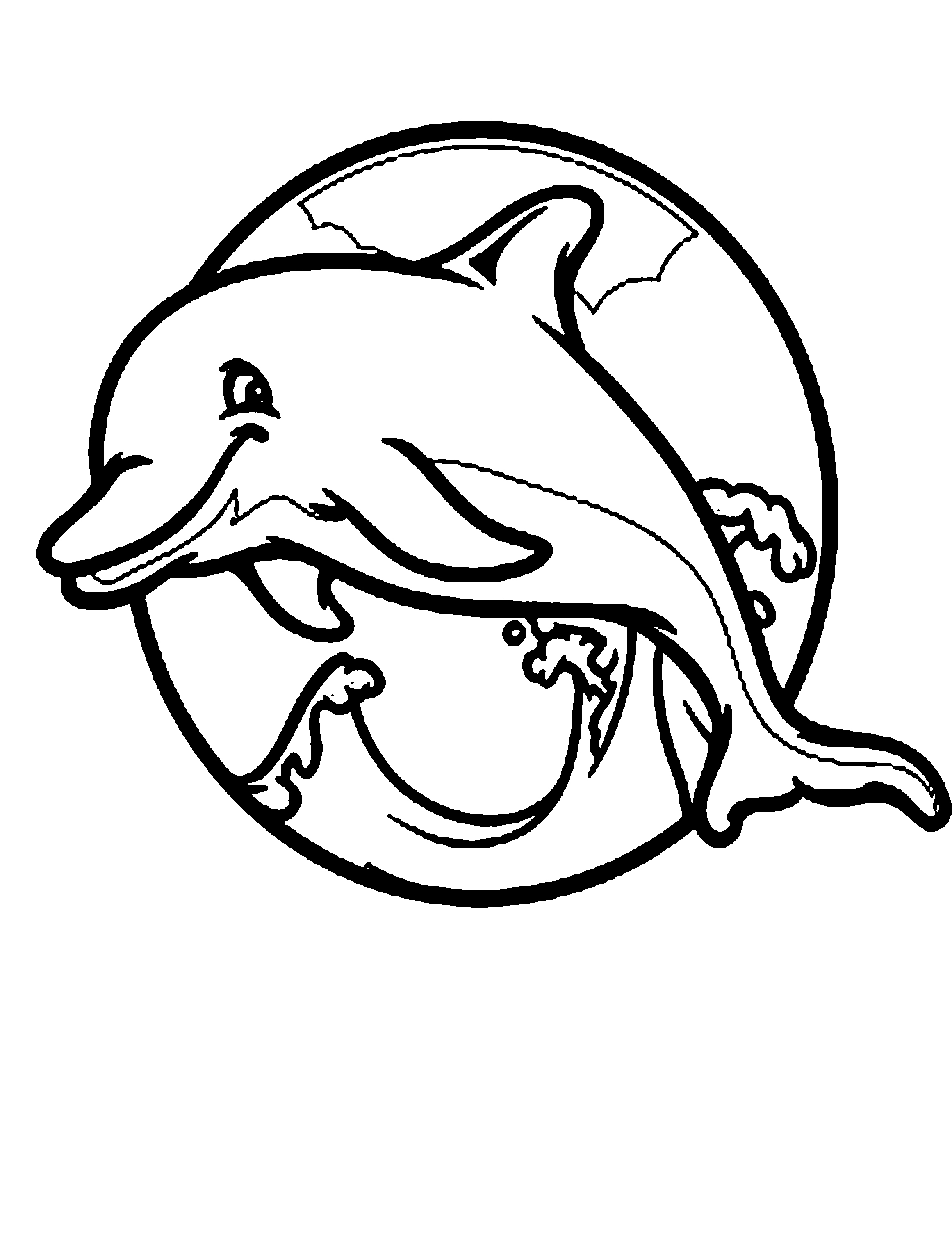 Cute Dolphin Coloring Pages Clipart Panda