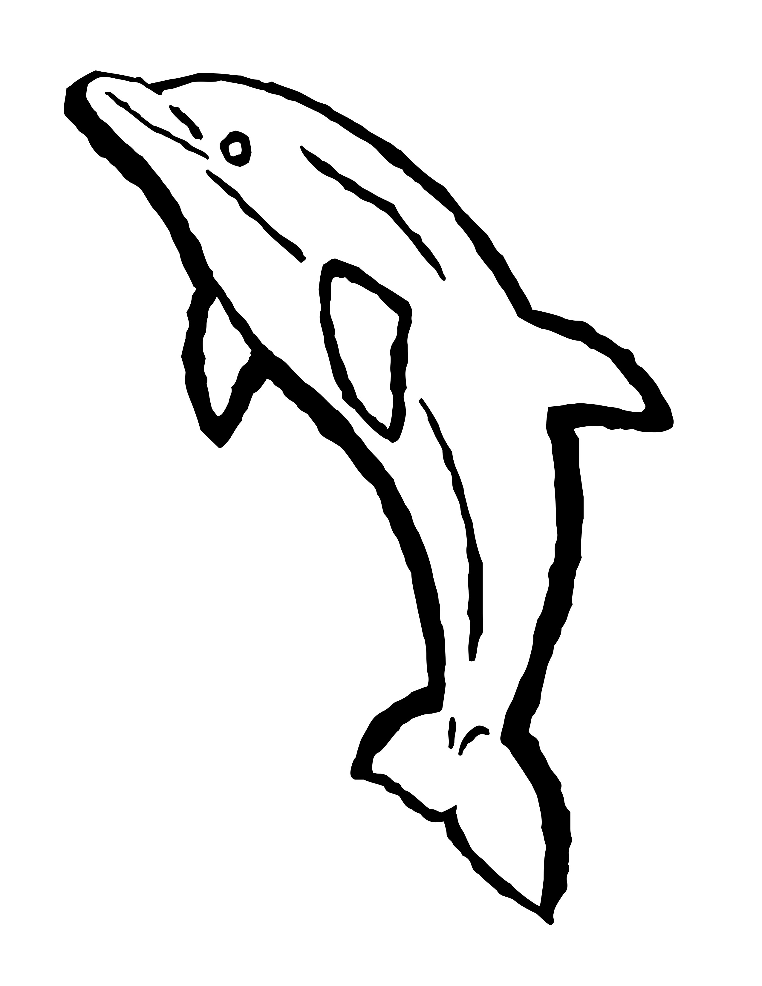 Dolphin Coloring Pages Clipart Panda