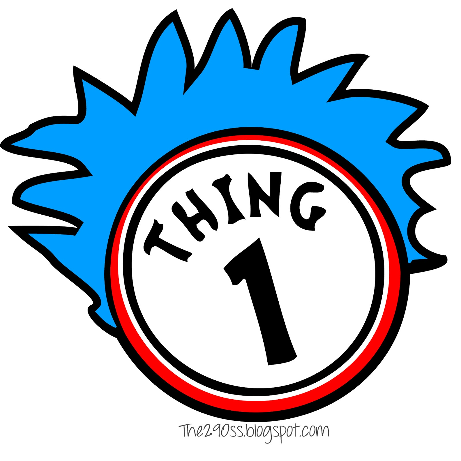 Thing One And Thing Two Clipart Panda