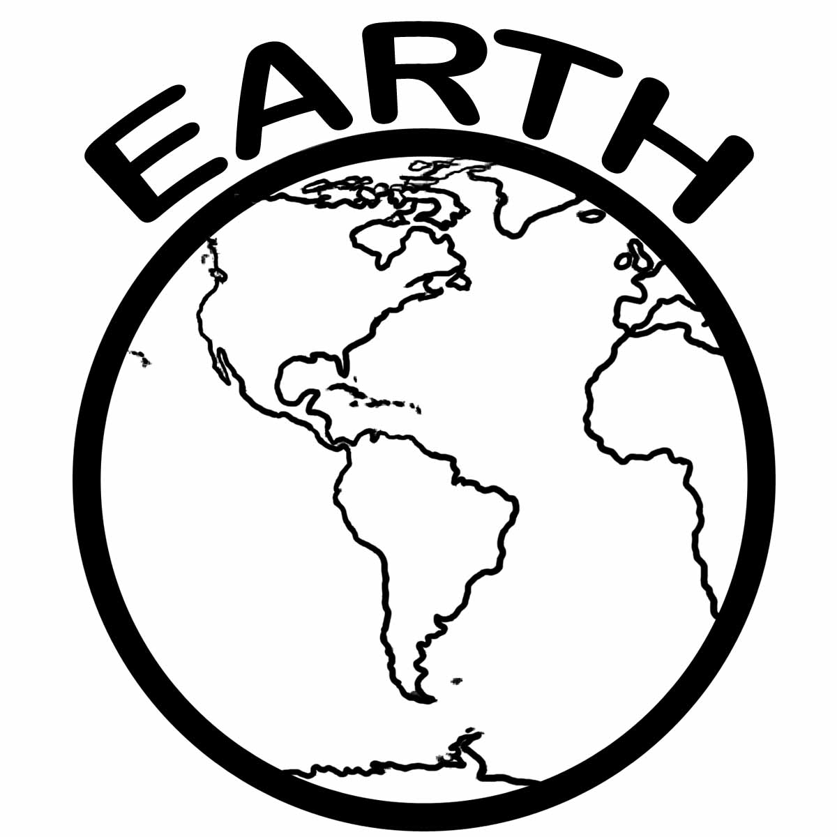 Earth Clip Art Black And White Clipart Panda