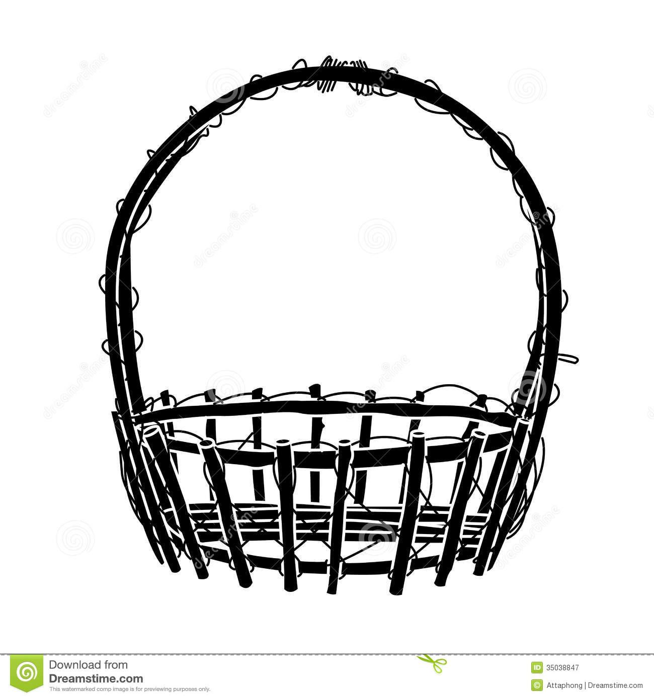 Empty Picnic Basket Clip Art Clipart Panda