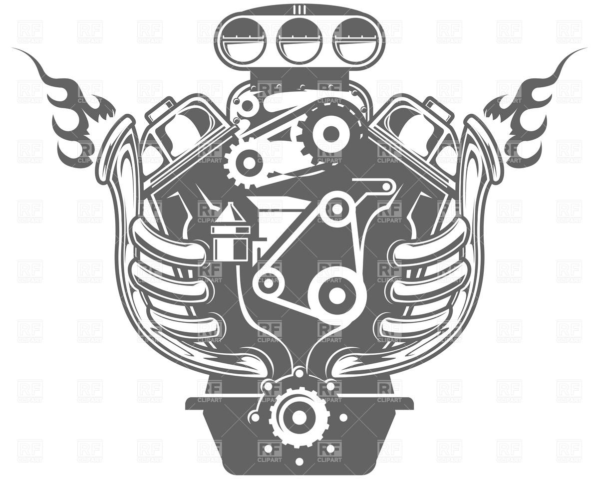 Big Block Engine Clip Art Cliparts