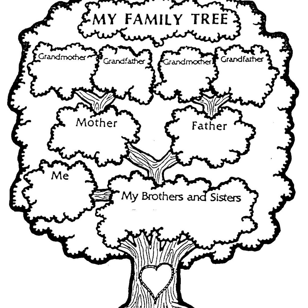Family Tree Coloring Page Clipart Panda