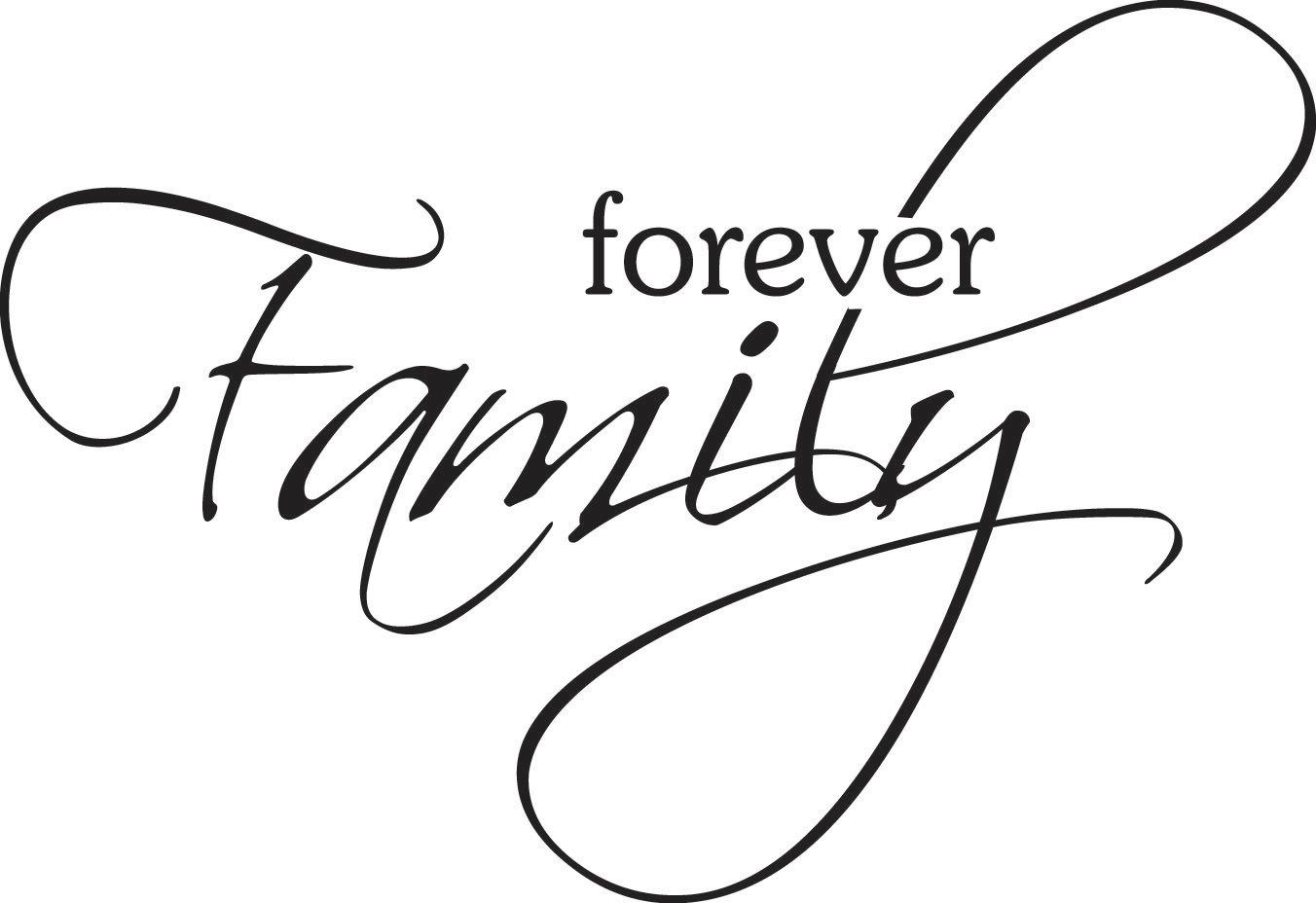 Family Word Art Clipart Panda