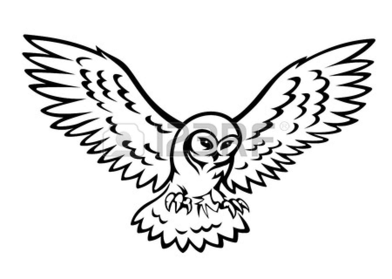 Flying Owl Silhouette Clipart Panda