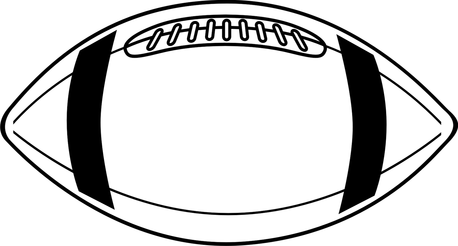 American Football Clipart Black And White