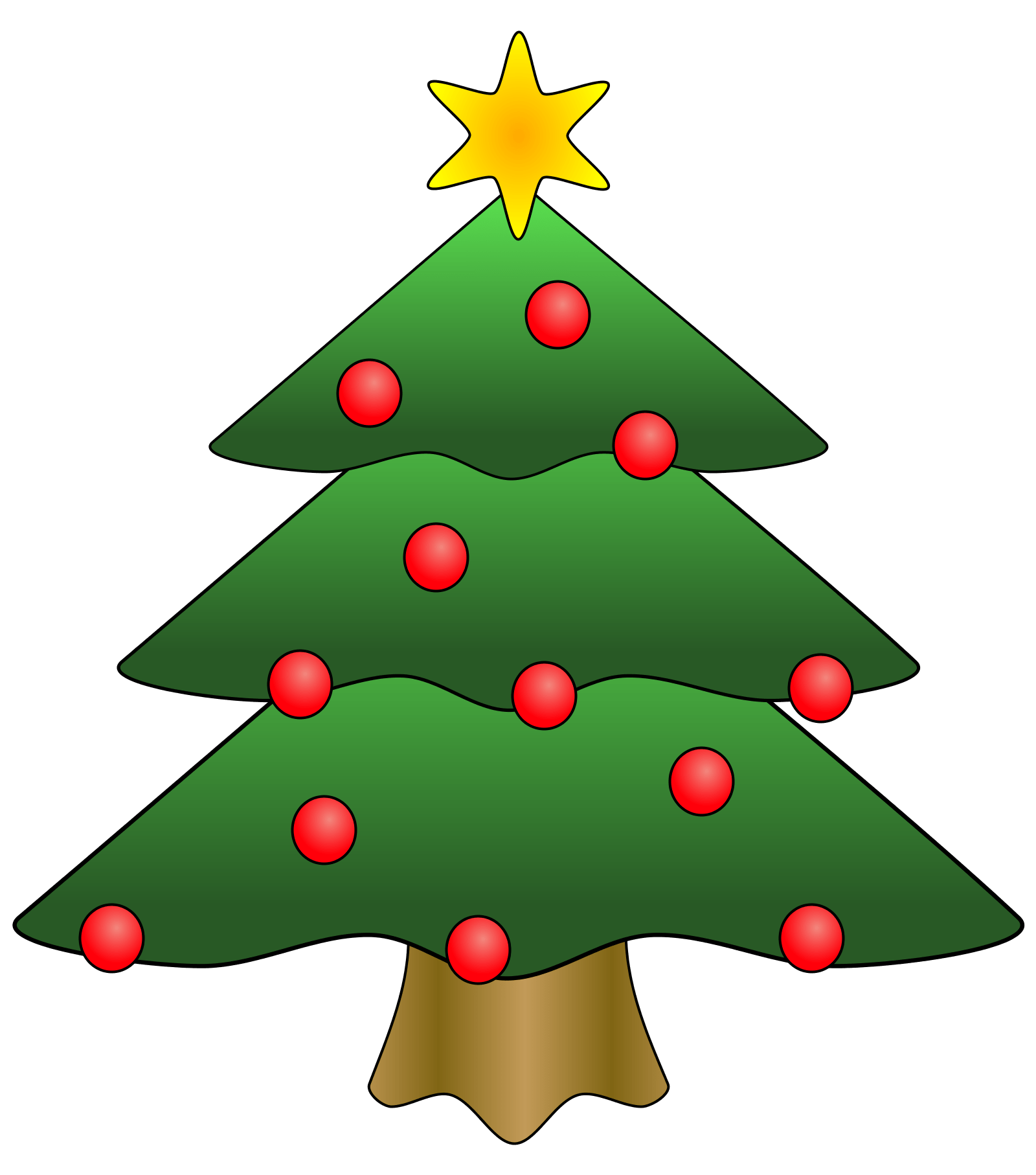 Clip Art Christmas Tree Clipart Panda