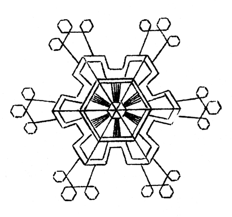 Snowflake Clipart Black And White Clipart Panda