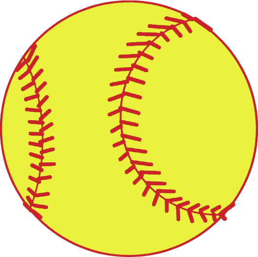 Image result for softball clipart