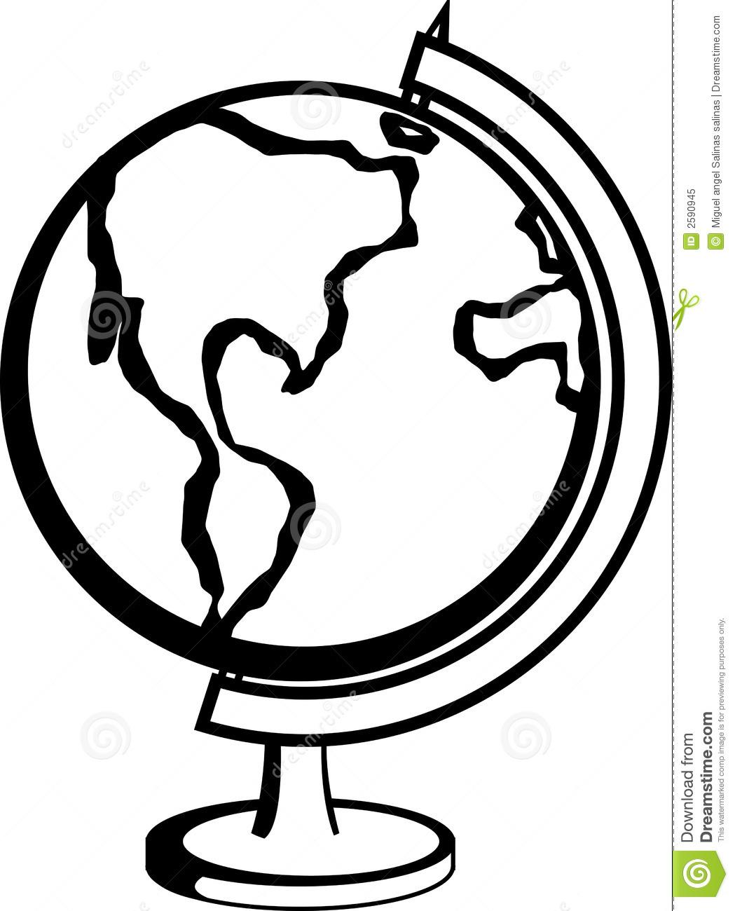Globe Vector Clipart Panda
