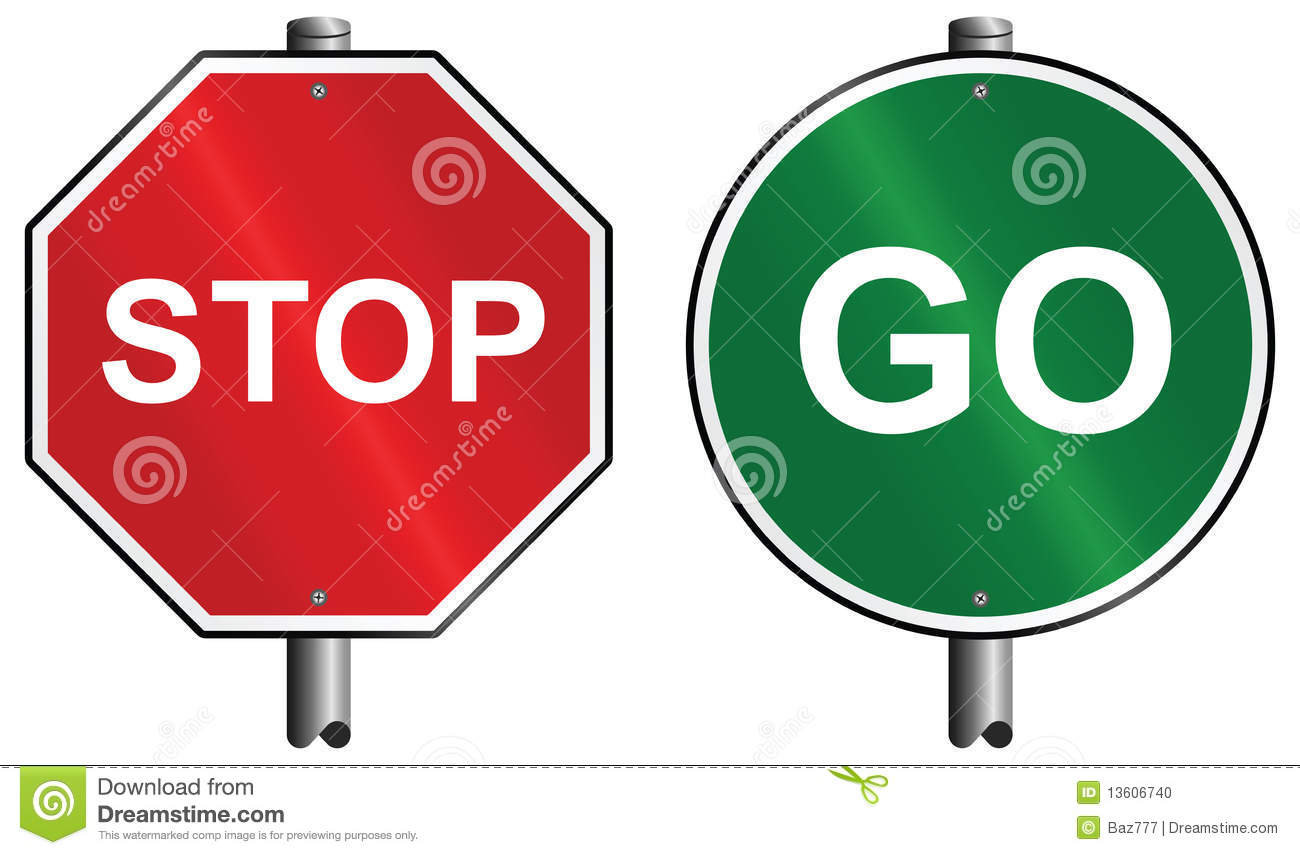 Stop And Go Signs Clipart Panda