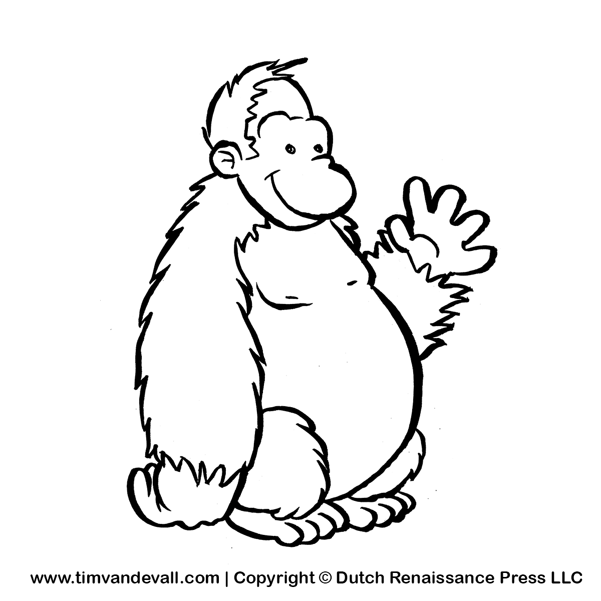 Gorilla Clipart Black And White Clipart Panda