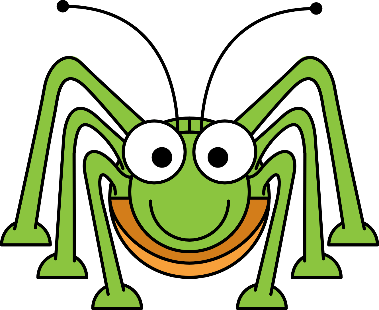 Grasshopper Drawing Outline Clipart Panda