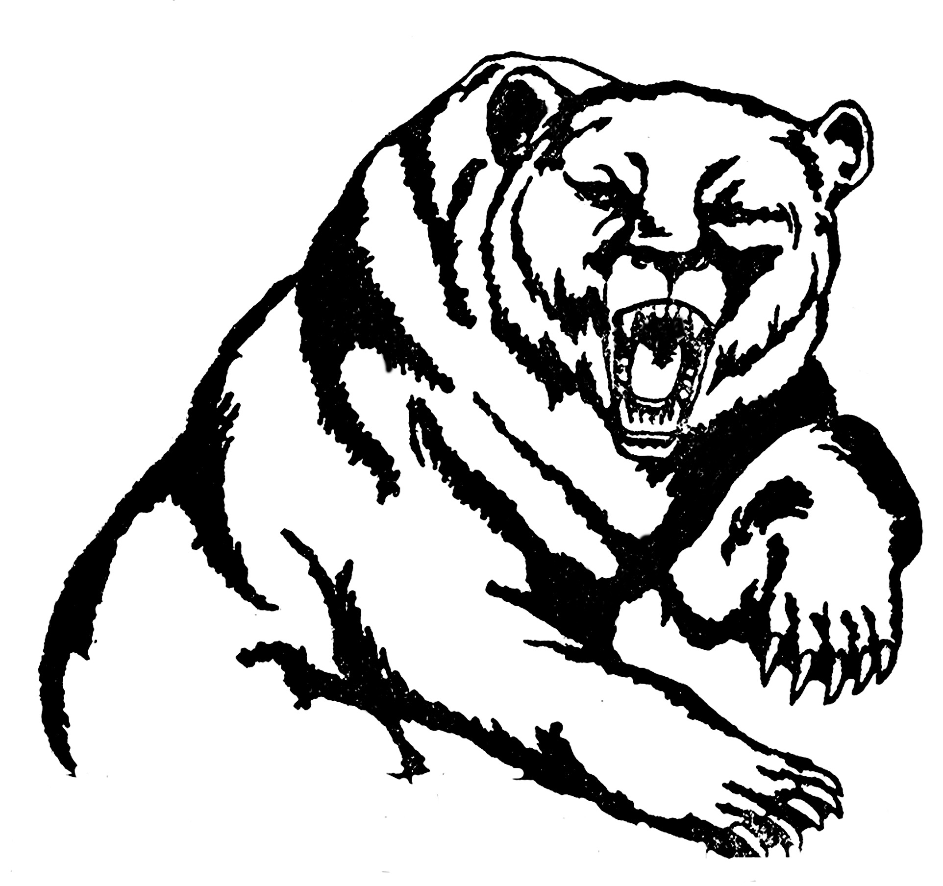 Grizzly Bear Mascot Clipart Clipart Panda
