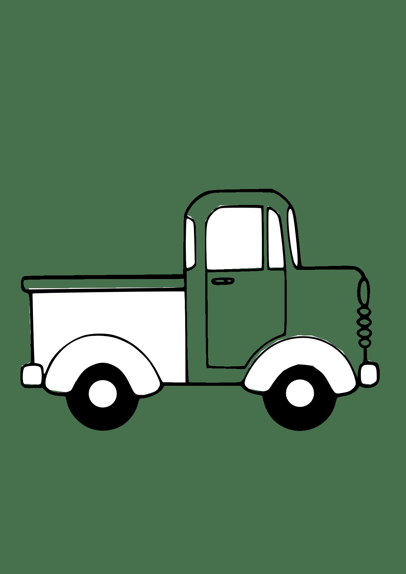 Dump Truck Clipart Black And White Clipart Panda