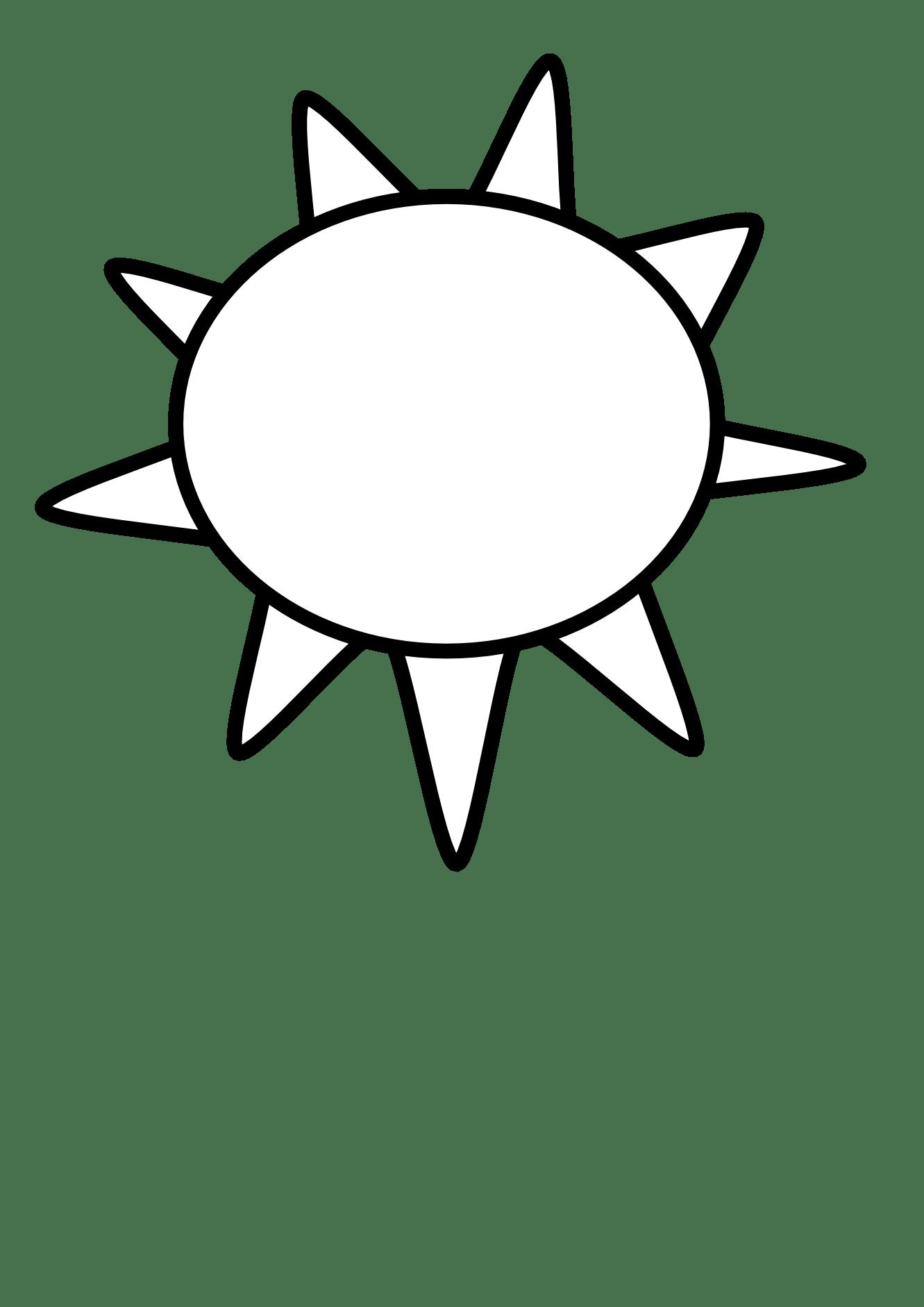 Clipart Sun Outline Clipart Panda