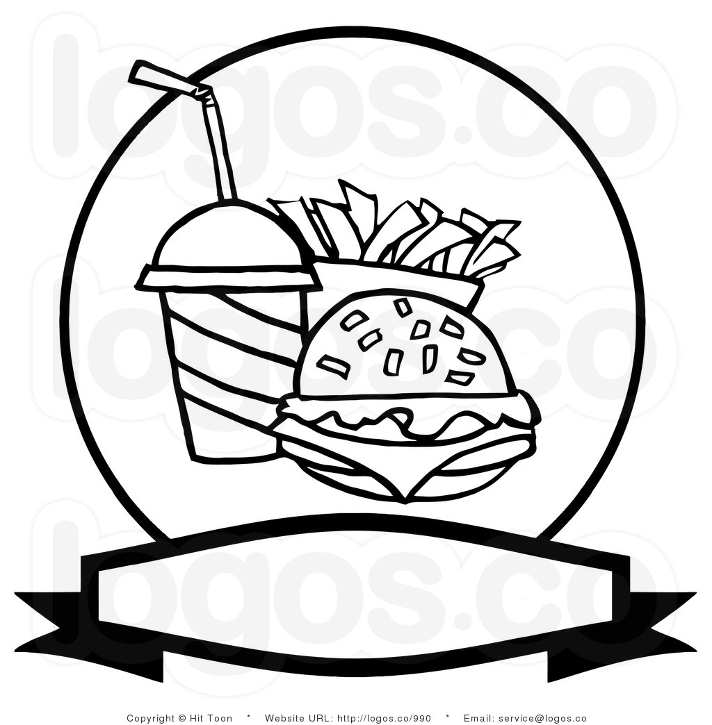 Junk Food Clipart Black And White Clipart Panda