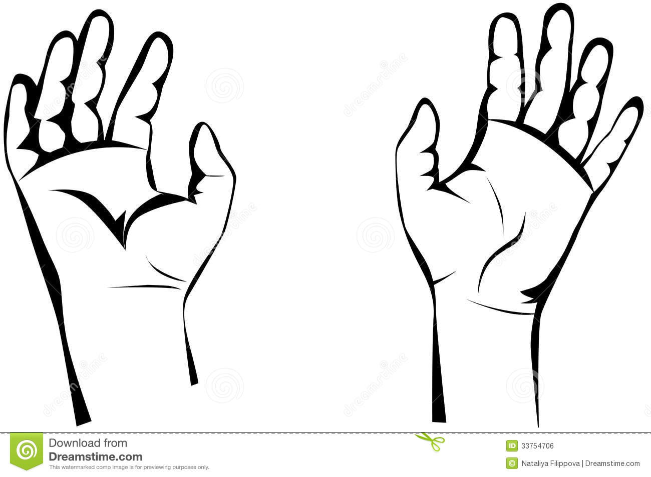 Open Hands Clipart Black And White Clipart Panda