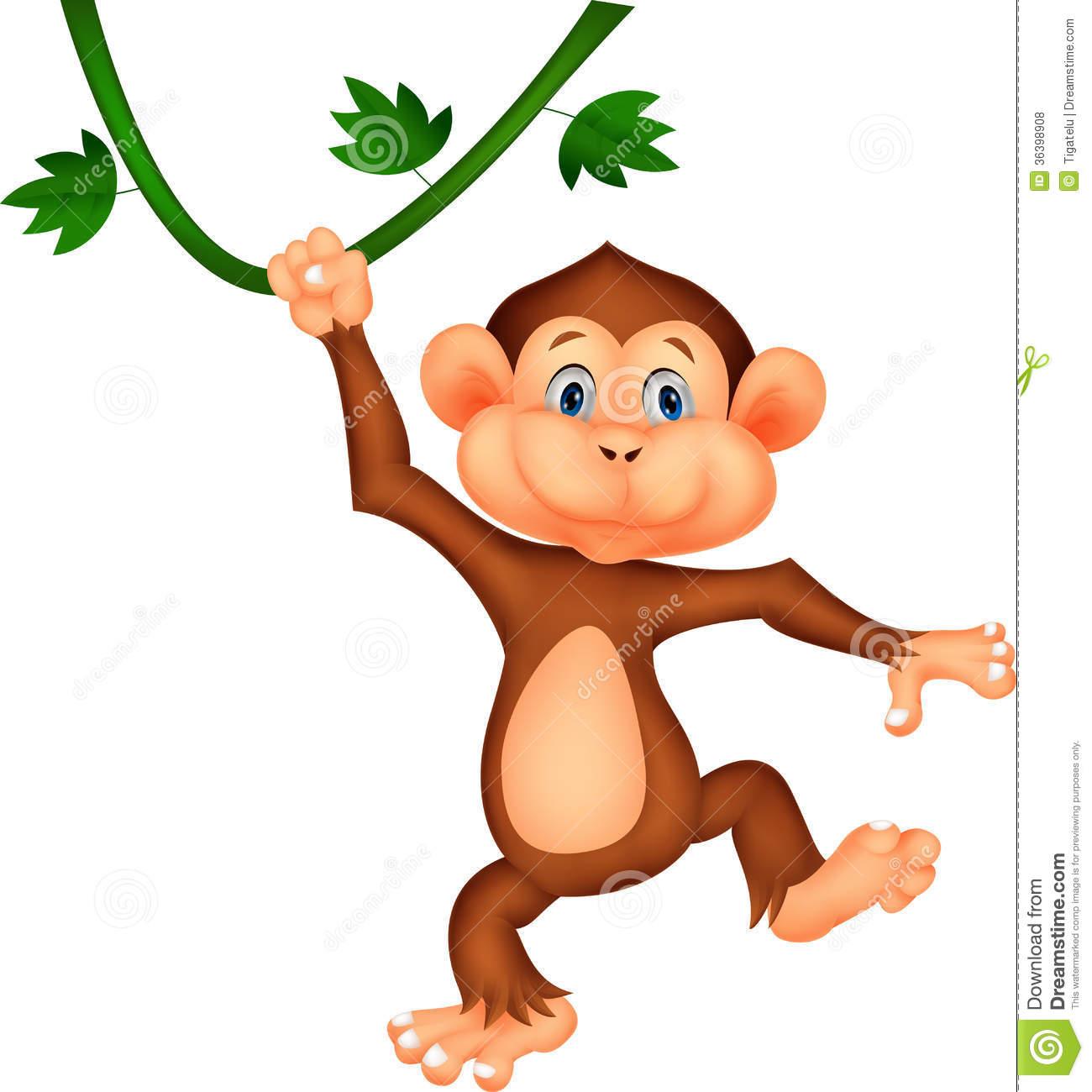 Cute Baby Girl Monkey Cartoon